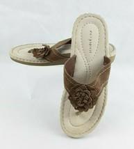 Easy Spirit Womens Slide Sandals Shoes Brown Tan Size 10 EUC - $18.16