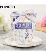 POPIGIST® Flower Wedding Candy Boxes Gift Box With Ribbon Birthday Sweet... - $43.23