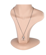 UE- Gun Metal Tone Necklace & Multi-Facetted Ball With Swarovski Style C... - $18.99