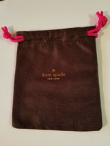 Kate Spade Brown w/Golden Lettering Jewelry Gift Drawstring Pouch (NEW) - $4.90