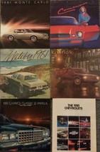 1981 Chevrolet 6 Brochures Monte Carlo Camaro Malibu Citation Caprice Impala - $42.56