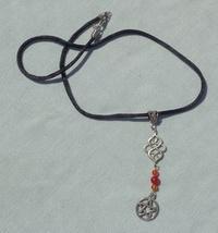 Handmade Gemstone Pentagram Gemstone Charm Necklace - $16.99
