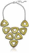 "NEW 19""+2"" Amrita Singh Noho Gold/Silver Triangle sequin statement Necklace NIB image 1"