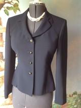 Le Suit Long Sleeve Dark Navy Blazer Suit Jacket Size 6 - $27.02