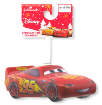 Hallmark Disney Pixar Cars Lightning McQueen Decoupage Christmas Ornament NWT