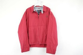 Vintage 90s Chaps Ralph Lauren Mens Medium Distressed Lined Bomber Jacket Red - $34.60