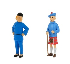 Tintin Kilt and Tintin Blue Lotus 2 plastic figurine set