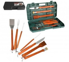 Barbecue utensils 6 Pieces Wooden Handle BBQ Set - €49,28 EUR