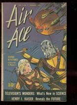 Air Ace V.2 #7 1945-STREET & SMITH-HITLER-WW II-SCI Fi FN- - $100.88
