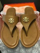 Tory Burch Jolie Flat Thong/ Tumbled Leather Royal Tan Size 8 NIB - $125.00