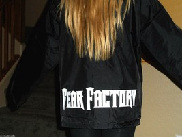 FEAR FACTORY - 2001 Collared Windbreaker Printed front and back Never Worn - $33.11