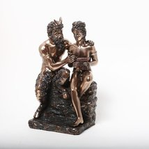 9 Inch Pan and Daphne Grecian Mythology Resin Statue Figurine - £39.63 GBP