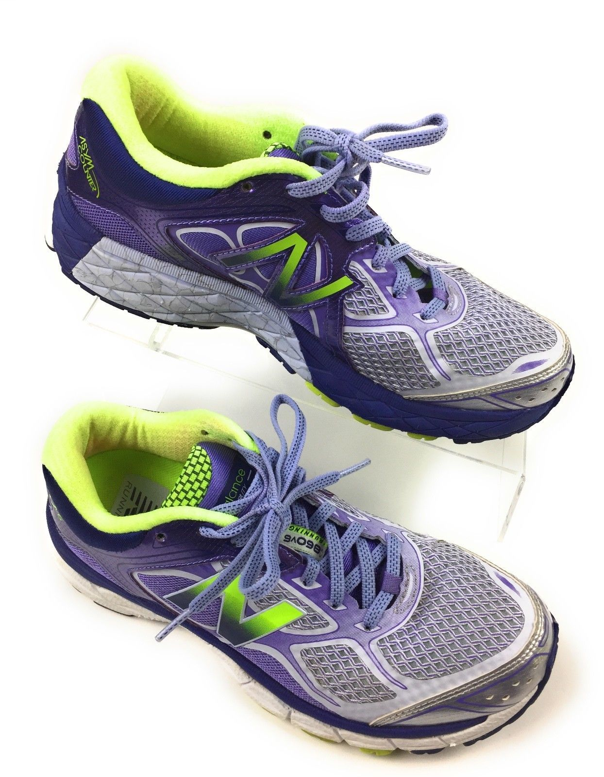 New Balance 860v6 Athletic Running Shoes W860GP8 Purple Green Women's Size 8 US