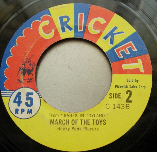 Hanky Pank Players - Toyland / March of the Toys - Cricket C-143