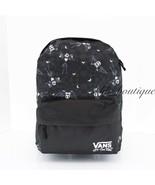 NWT Vans Disney Jack's Check Realm Backpack School Laptop Travel Bag Bla... - $34.95