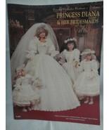 "Paradise Crochet PRINCESS DIANA & HER BRIDESMAIDS 11 1/2"" Doll Costume P... - $29.65"