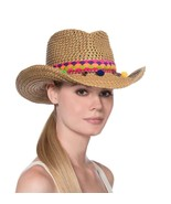Authentic NWT Eric Javits NYC Women's Hat - Squishee Sunny in Natural Mix - $131.10