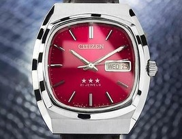 Citizen Vintage Stainless Steel Mens Japanese Mechanical Watch c 1970 jr45 - $714.17