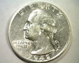 1942 WASHINGTON QUARTER ABOUT UNCIRCULATED+ AU+ NICE ORIGINAL COIN BOBS ... - $10.50