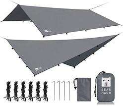 Bearhard Rain Fly Camping Tarp 10x12ft /10x10ft Hammock Fly Include 6 Ropes and  - $70.00