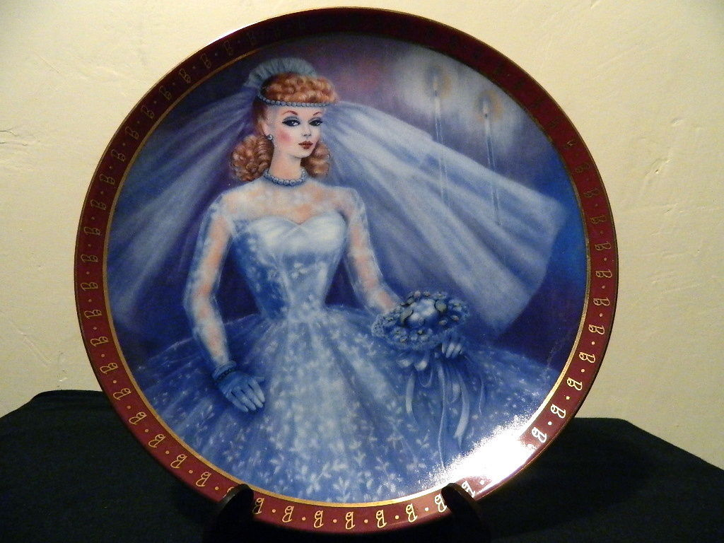 1959-High Fashion-Barbie Bride To Be-Danbury Mint Collectors Plate Susie Morton