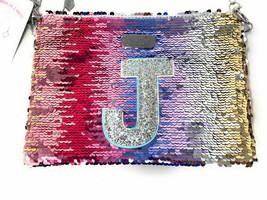 Justice Girls Flip Sequin Initial J Convertible Crossbody Bag Christmas ... - $14.99
