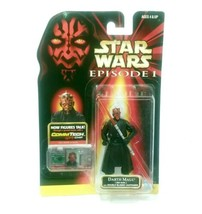Vintage 1998 Star Wars Darth Maul Sith Talking Figure + Double Bladed Li... - $36.47