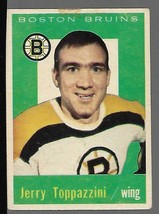 1959-60 Topps #38 Jerry Toppazzini VG - $20.77