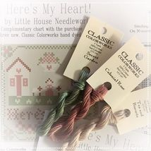 Here's My Heart 3 FLOSS + FREE CHART Classic Colorworks Little House Nee... - $6.45
