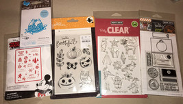 Christmas Halloween Holidays Tags & Sayings Clear Stamp Thin Metal Die Cut Set - $17.82