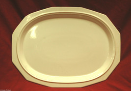 """Old Vintage Heritage White by Pfaltzgraff 16"""" Oval Serving Platter Tray USA - $34.64"""