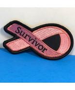 BREAST CANCER AWARENESS PINK BLACK PATCH FOR COAT JACKET SURVIVOR RIBBON... - $9.85