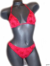 New Sauvage California celebrity Bikini swimsuit M sexy designer bright - $30.01