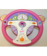 Mattel Barbie Drive With Me Steering Wheel Interactive Toy Game Pink Purple - $85.00