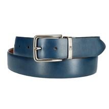 Tommy Hilfiger Men's Reversible Embossed Center Leather Belt Tan/Blue 11TL01X050 image 2