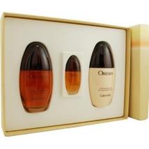 Calvin Klein Obsession Perfume 3.4 Oz Eau De Parfum 3 Pcs Gift Set  image 3