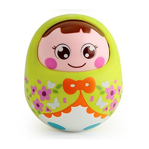 Lovely Nodding Doll Tumbler Push and Pull Toys(green)