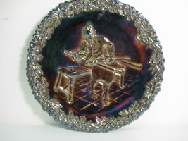 Fenton Carnival Glass Plate - 1970 Collector Series #1 - Red Base Glass - $5.54