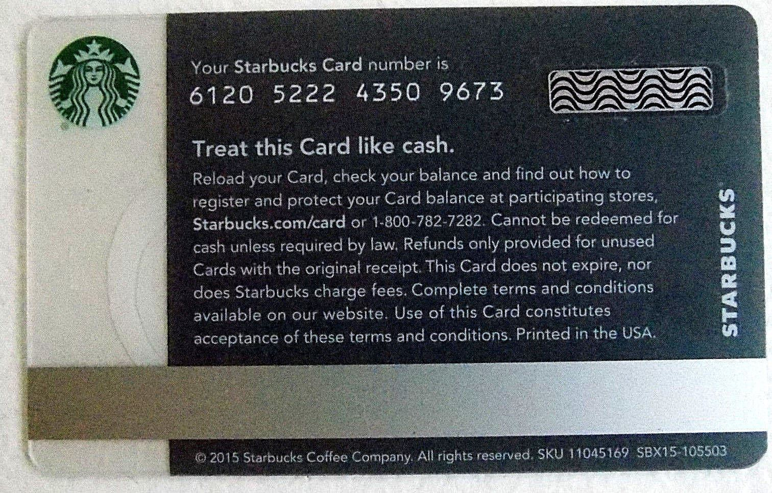 Starbucks New Empty Fillable Gift Card Thanks This One's on Me