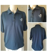 Nike Golf Men's Navy Blue Textured Knit Polo Golf Shirt Emerald Bay M - $18.59