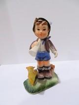 Vintage Hong Kong-Hummel Inspired-Boy with Horn Figurine Ornament - $3.00