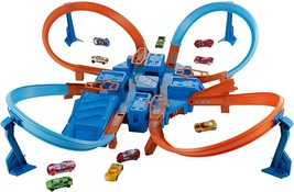 Hot Wheels Criss Cross Crash Track Set with Intersections Turns Boosters Racing - $69.99