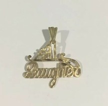 14k Yellow Gold #1 DAUGHTER Pendant - $56.10