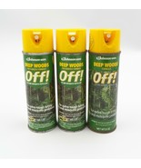 Johnson Wax Deep Woods Off! Pressurized Formula Lot 3 Fly Mosquito Repel... - $29.99