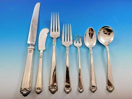 George II Rex Hand Chased Watson Sterling Silver Flatware Set Service Dinner 90p - $6,495.00