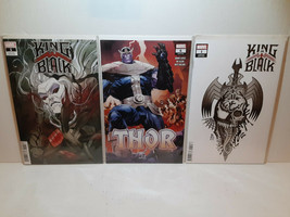 KING IN BLACK #1: 2 VARIANT COVERS + THOR #6 - FIRST KNULL MENTION FREE ... - $23.38