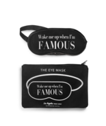 Wake me up when I'm famous eye mask and pouch Black Los Angeles Trading Co. - $15.83