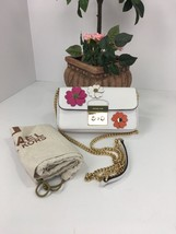Michael Kors Flora Applique Wallet On A Chain Crossbody Optic White B2X - $123.74