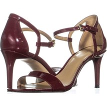 MICHAEL Michael Kors Simone Mid Sandal Ankle Strap Sandals 361, Maroon, ... - $41.27
