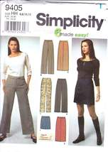 Misses' Easy Long & Short Straight Skirt Or Wide Leg Pants Sewing Patter... - $9.00